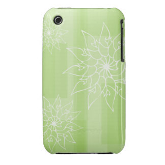 Pastel shades of green oriental floral iPhone 3 Case-Mate case