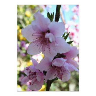 Pastel Shades of Peach Tree Blossom Custom Invitations