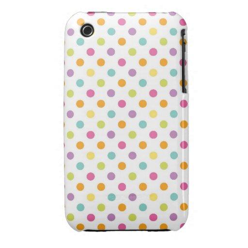 pastel sherbet polka dots pattern Case-Mate iPhone 3 case