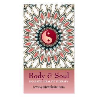 Pastel Shine Yin Yang New Age Business Card
