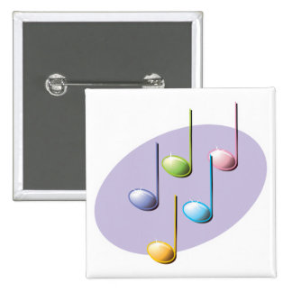 pastel shiny music notes pins