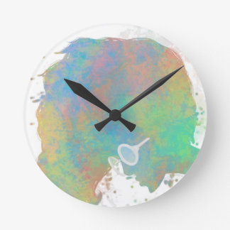 Pastel Silhouette Wall Clock