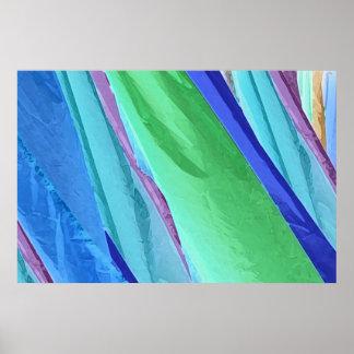 Pastel Silks Abstract Poster Print