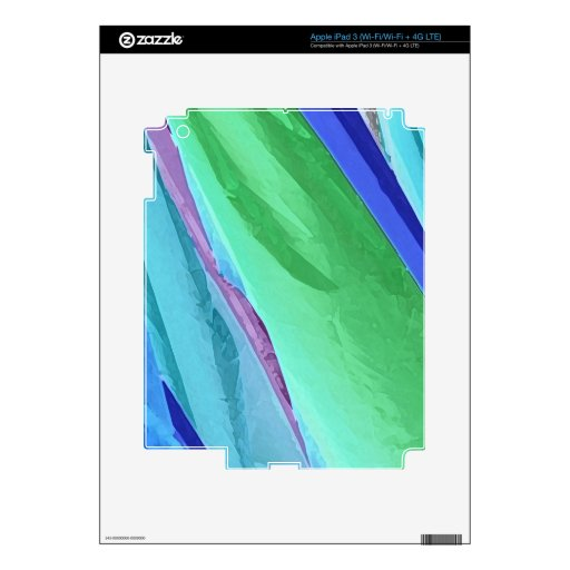Pastel Silks Abstract Tablet Decal Skin Skin For iPad 3