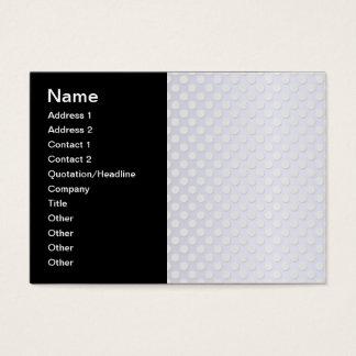 Pastel Silvery White Polka Dot Pattern Business Card