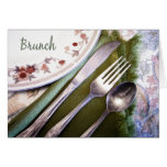 Pastel Sketch of Place Setting Brunch Greeting Card