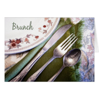 Pastel Sketch of Place Setting Brunch Card