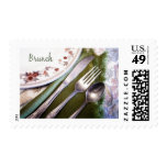 Pastel Sketch of Place Setting Brunch Stamps