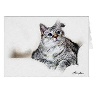 Pastel Sketch of Zilla Card