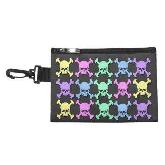 Pastel Skull Pattern Clip On Accessory Bag