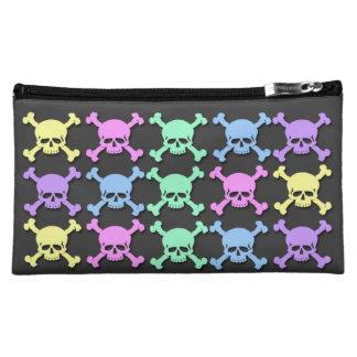 Pastel Skull Pattern Medium Cosmetic Bag