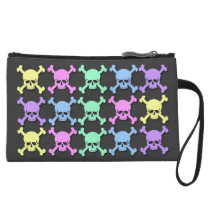 Pastel Skull Pattern Mini Clutch