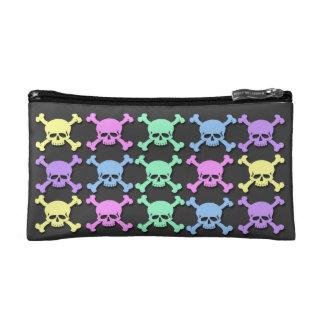 Pastel Skull Pattern Small Cosmetic Bag