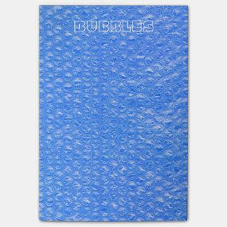 Pastel Sky Blue Bath Bubbles Seafoam Blueberry Post-it® Notes