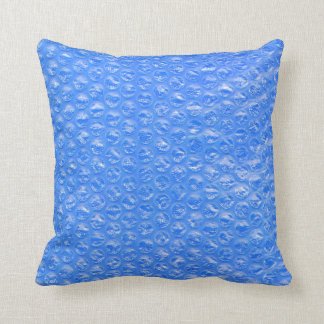 Pastel Sky Blue Bath Bubbles Seafoam Blueberry Throw Pillow