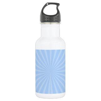 Pastel Sky Blue Radiant Stripes Pattern 18oz Water Bottle