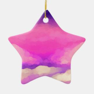 Pastel Sky Ceramic Ornament