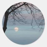 Pastel Sky Classic Round Sticker