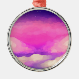 Pastel Sky Metal Ornament