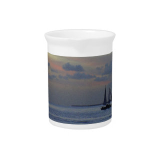 Pastel Sky Beverage Pitcher