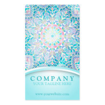 Pastel Snowflake Mandala Double-Sided Standard Business Cards (Pack Of 100)