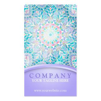 Pastel Snowflake Mandala - Purple Business Card