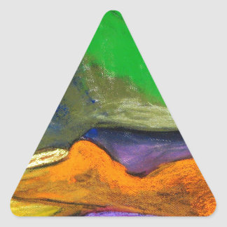 Pastel Soothers (abstract expressionism) Triangle Sticker