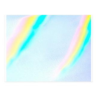 Pastel Spectrum Colors Postcard