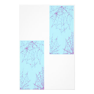 Pastel Spider Web Personalized Stationery