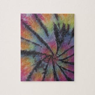 Pastel Spiral Swirl Tie Dye Jigsaw Puzzle