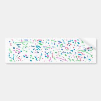 Pastel Splatter Confetti Print Bumper Sticker