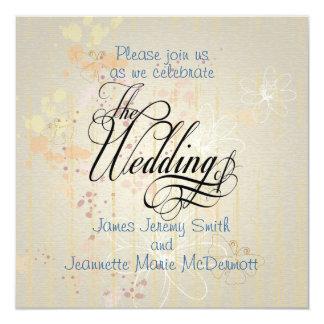 Pastel Splatter Elegant Wedding Invitation Card