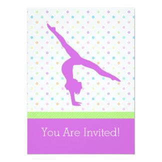 Pastel Spots Gymnastics in Lavender Card