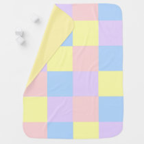 Pastel Spring Color Checkers Baby Blanket