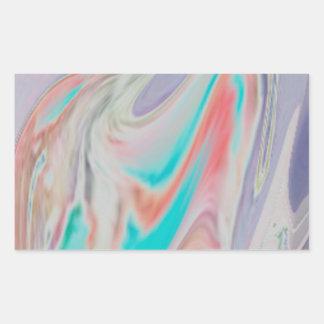Pastel Spring Dye Swirls Rectangular Sticker