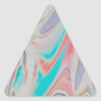 Pastel Spring Dye Swirls Triangle Sticker