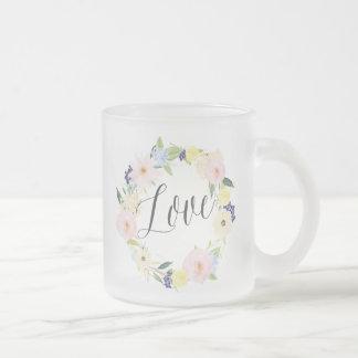 Pastel Spring Floral Wreath | Love Mug