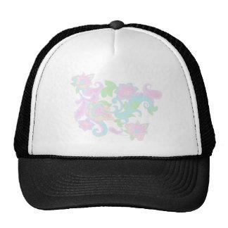 Pastel Spring Flower Garden Mesh Hat
