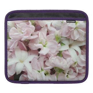 Pastel spring flowers closeup iPad sleeve