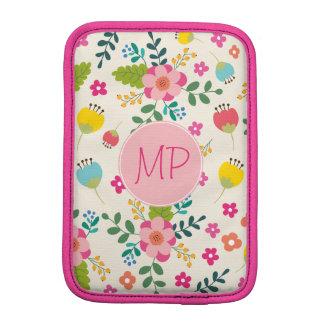 Pastel Spring Girly Flower Pattern iPad Mini Sleeve
