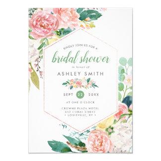 Pastel Spring | Modern Floral Frame Bridal Shower Invitation