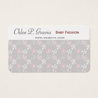 Pastel  Spring Pleasures Cute Teeny Tiny Florals Business Card