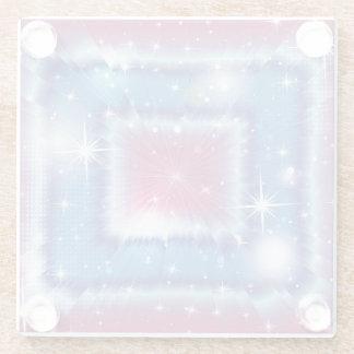 Pastel Squares Glass Coaster