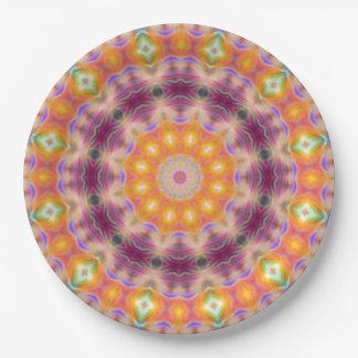 Pastel Star Mandala Paper Plate