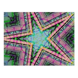 Pastel Star Postcard