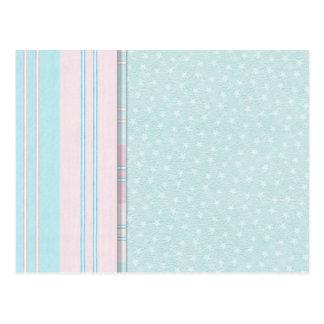 Pastel Stars and Stripes Postcard