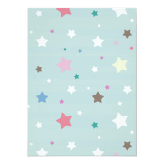 Pastel Stars Pattern Card