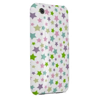 Pastel stars pattern iPhone 3 Case-Mate case