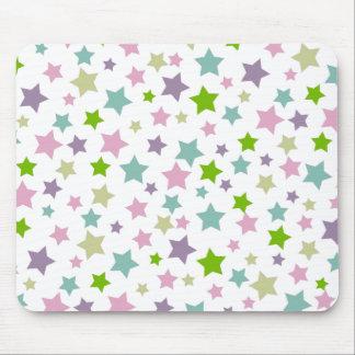 Pastel stars pattern mousepads
