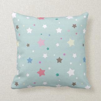 Pastel Stars Pattern Throw Pillows